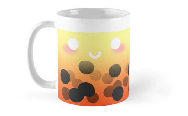 Faux Bubble Tea - ORANGE by BexigaCreations