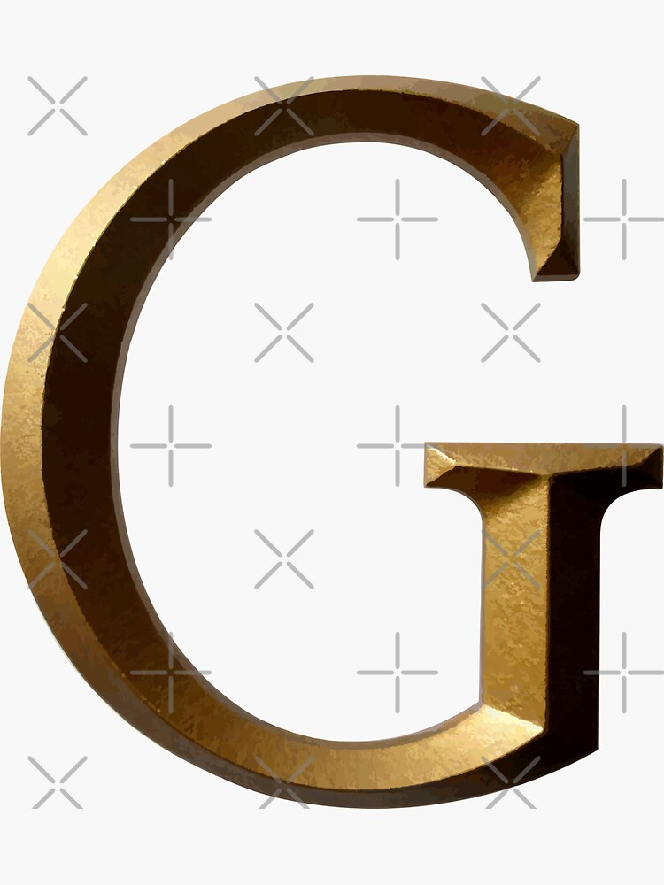 LETTER G IN GOLD COLOR by stickysterscom