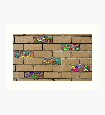 Just another brick in the wall + 5 Art Print