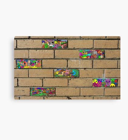 Just another brick in the wall + 5 Canvas Print