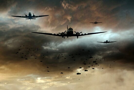 Normandy Invasion by Airpower Art