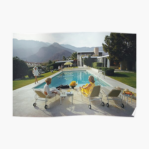 Poolside Glamour by slim aarons Poster