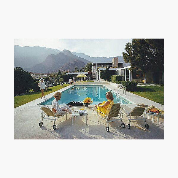 Poolside Glamour by slim aarons Photographic Print