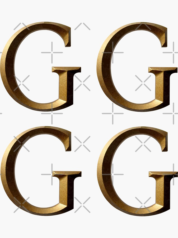 Letter G Gold Stickers by stickysterscom