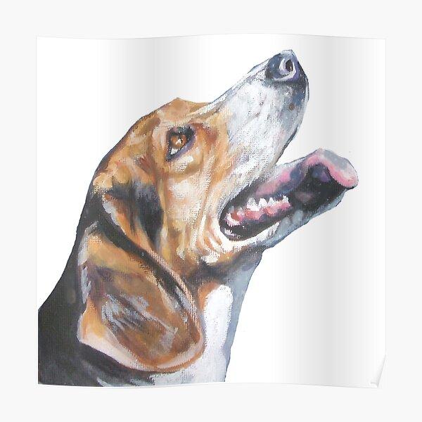 Loving Beagle Fine Art Painting Poster