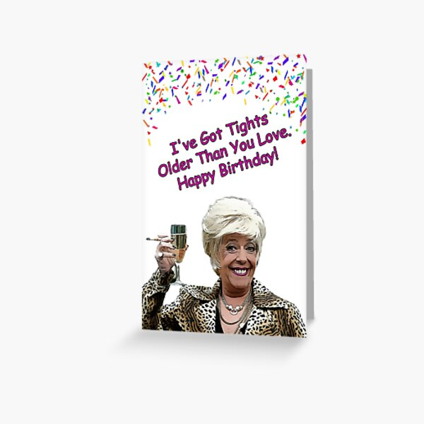 Bet Lynch Coronation Street birthday card and gifts  Greeting Card