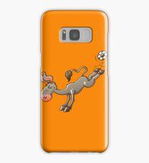 Donkey Shooting a Soccer Ball Samsung Galaxy Case/Skin
