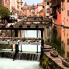 The Waterways of  Old Annecy by John Gaffen