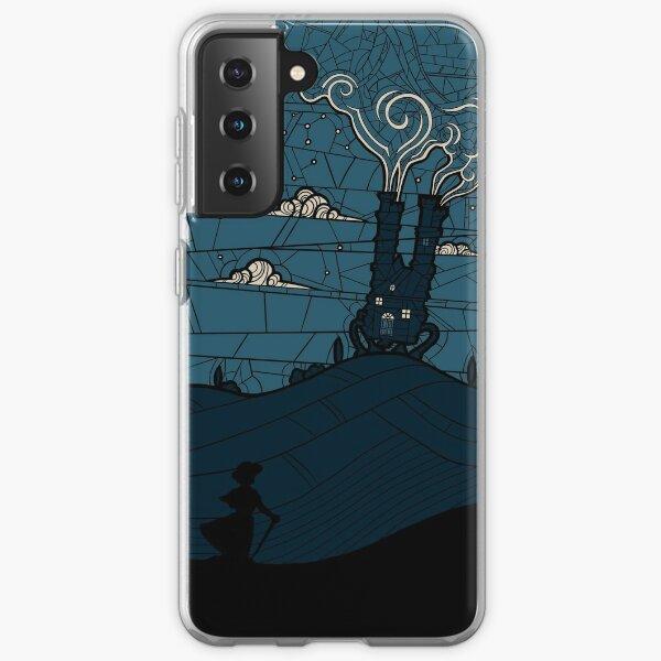 Aullidos moviendo el castillo Funda blanda para Samsung Galaxy
