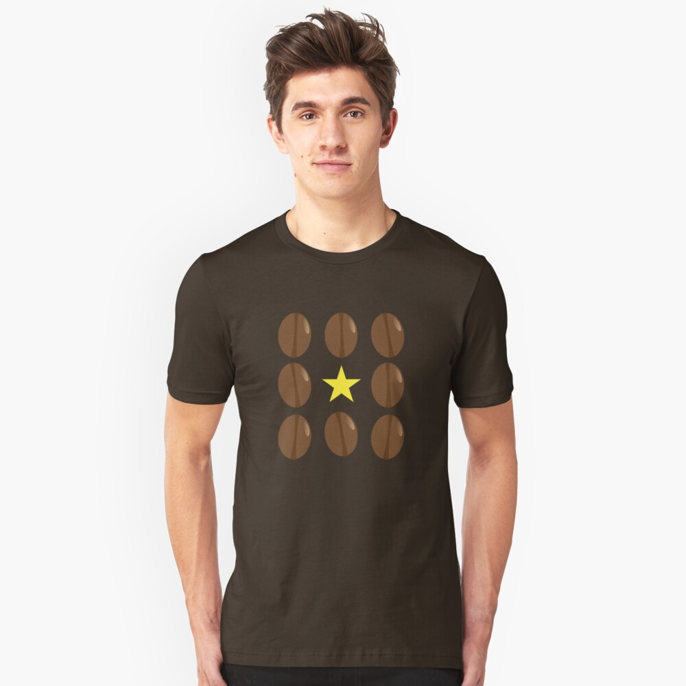 Coffee beans vector design Unisex T-Shirt Front