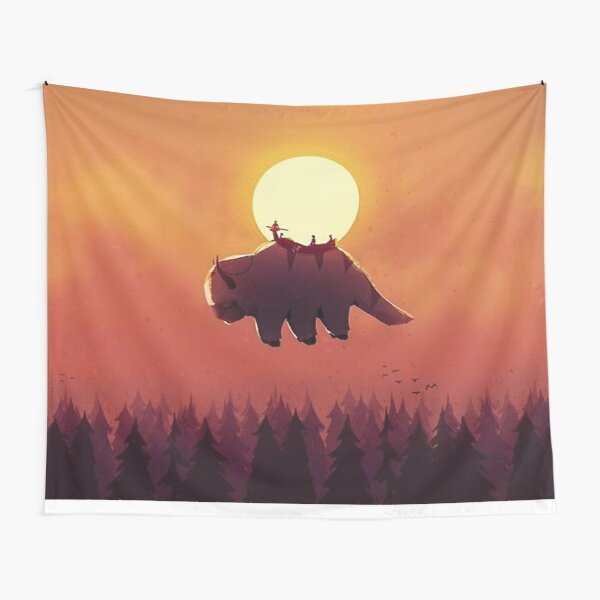 Avatar the Last Airbender Appa and the Gang Tapestry