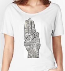 Hunger games Salute symbol Mandala Design. Women's Relaxed Fit T-Shirt