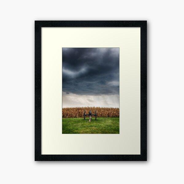 Facing the storm 2 Framed Art Print