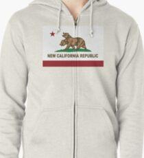 New California Republic Flag Original  Zipped Hoodie