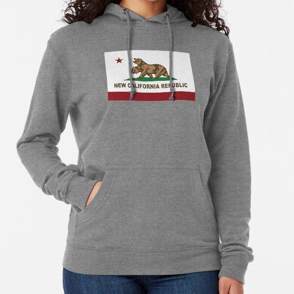 Nueva bandera de la República de California Original Sudadera ligera con capucha
