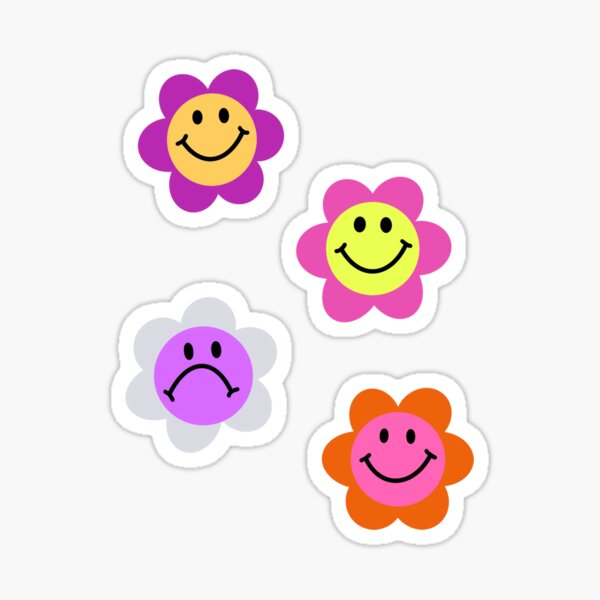 Smiley Flower  Sticker