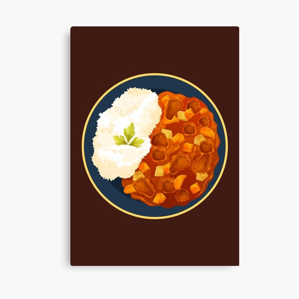 Japanese Curry Rice Canvas Print