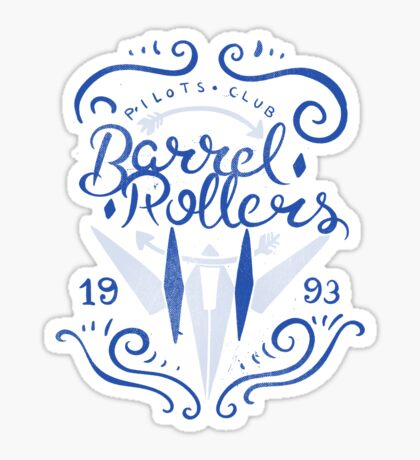 Barrel Rollers Pilots Club Sticker