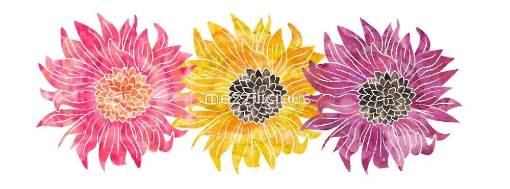 Triple Sunflower  by mezzilicious
