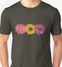 Triple Sunflower  Unisex T-Shirt