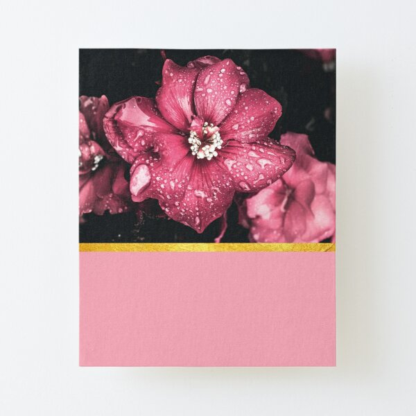 Pink flowers 2 Canvas Mounted Print