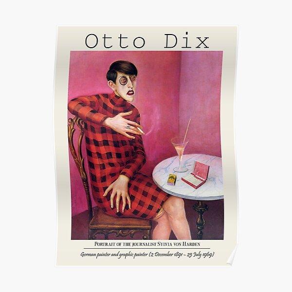 Vintage poster-Portrait of the journalist Sylvia von Harden -Wilhelm Heinrich Otto Dix . Poster