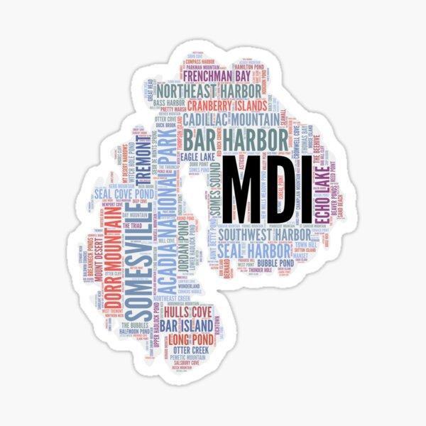 MDI in Words Sticker