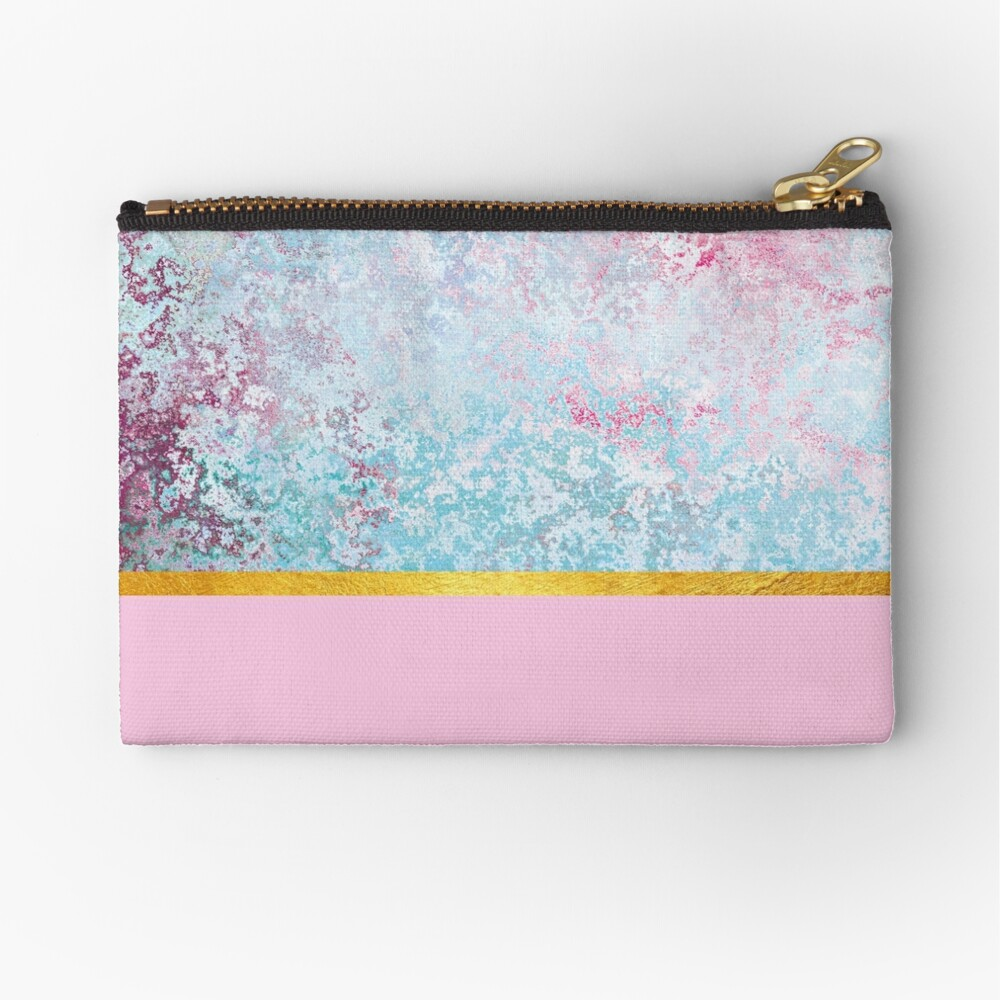 Beautiful pink textured composition Zipper Pouch