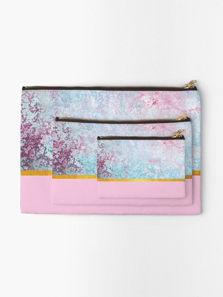 Alternate view of Beautiful pink textured composition Zipper Pouch