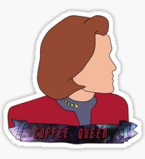 Janeway the Coffee Queen Sticker