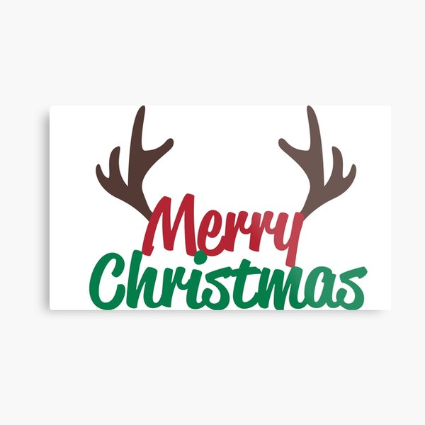 Merry Christmas Happy Christmas! Metal Print