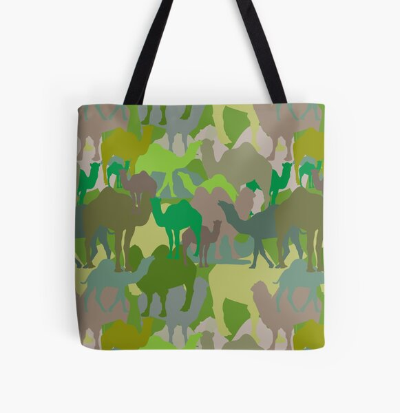 Jungle Camelflage All Over Print Tote Bag