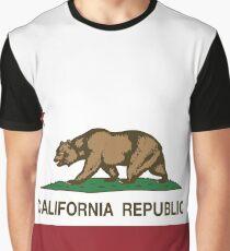 California Republic Flag Graphic T-Shirt