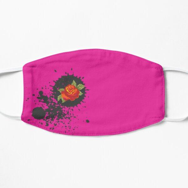 Sprouse inspired-Rose & Splattered Spray Paint- hot pink Mask