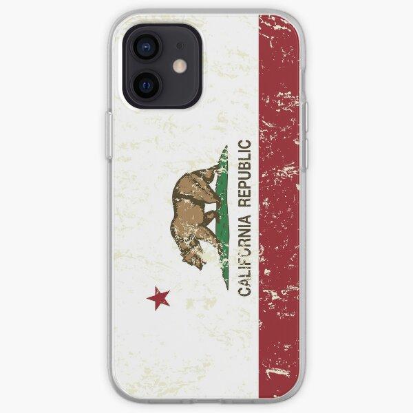 Grunge de California Republic apenado Funda blanda para iPhone