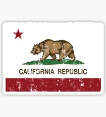 California Republic Grunge Distressed  Sticker
