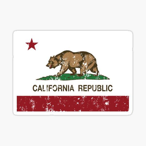 California Republic Grunge Distressed  Sticker
