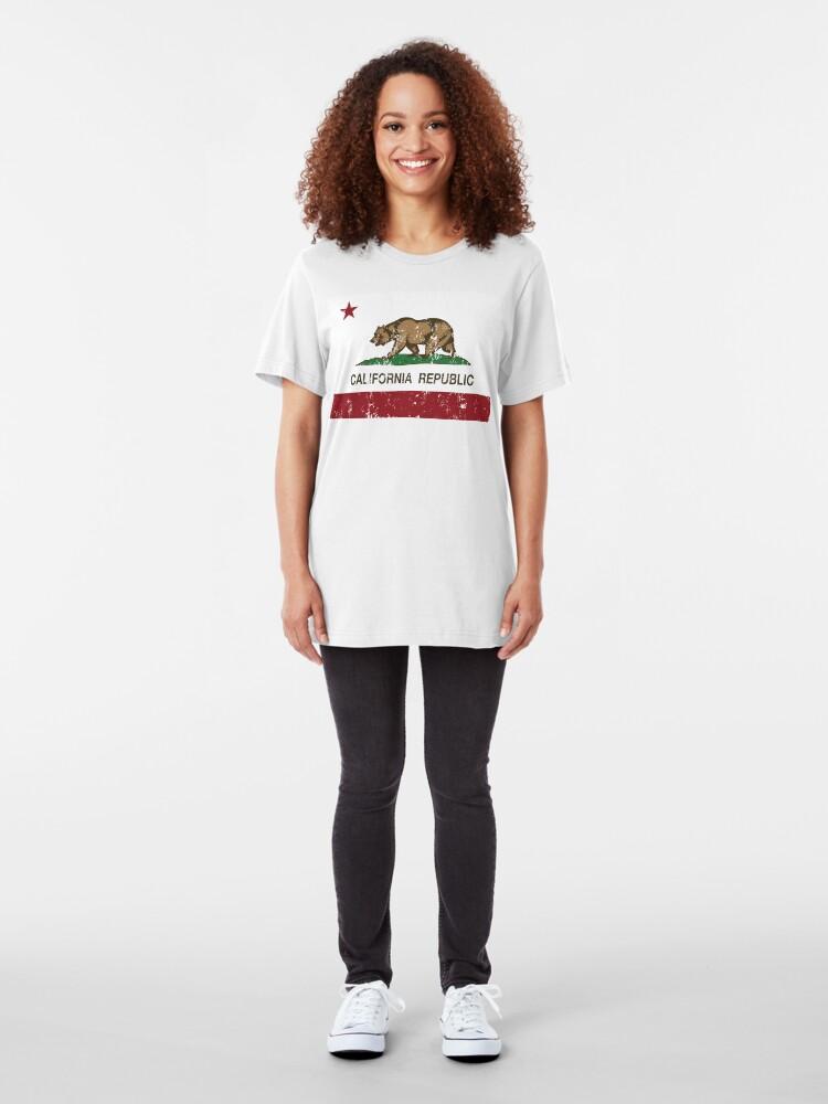 Alternate view of California Republic Grunge Distressed  Slim Fit T-Shirt