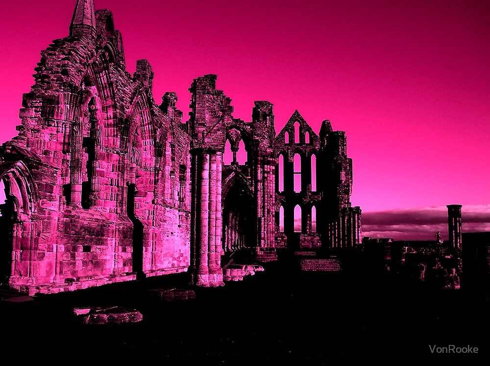 Whitby Abbey, Light Purple by VonRooke