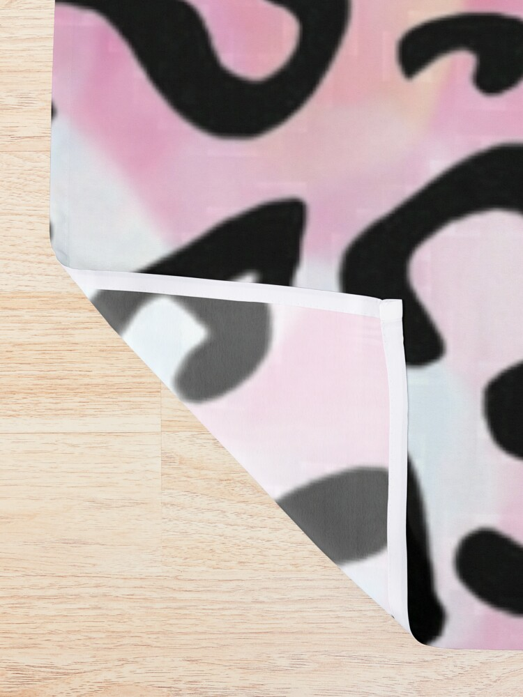 Alternate view of Black leopard pattern Shower Curtain