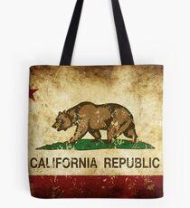 California Republic Flag Rustic  Tote Bag