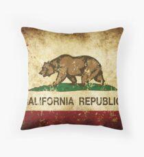 Kalifornien Republik Flagge rustikal Dekokissen