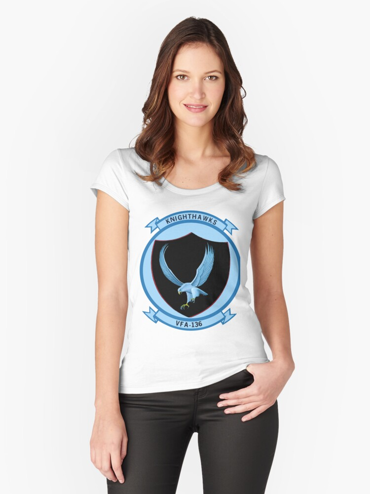 VFA-136 Knighthawks Women's Fitted Scoop T-Shirt Front