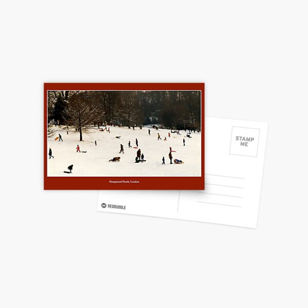 A snowy morning on Hampstead Heath Postcard