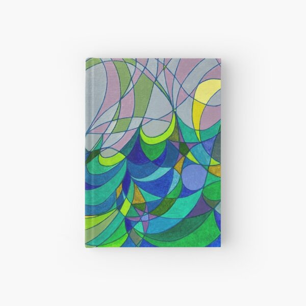 Mermaid on a rock Hardcover Journal