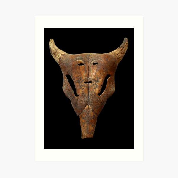 Bull Skull - Indonesian Mask  Art Print