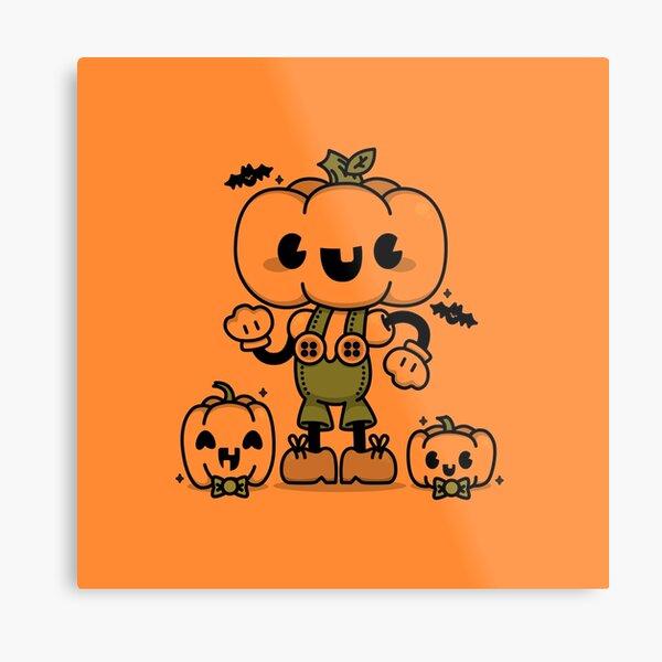 Pumpkin Boy Metal Print