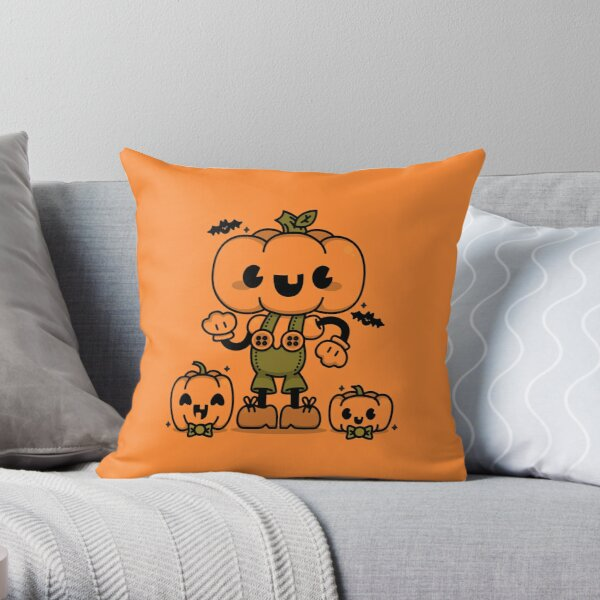 Pumpkin Boy Throw Pillow
