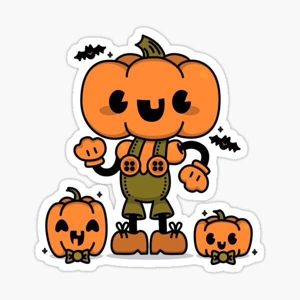 Pumpkin Boy Sticker