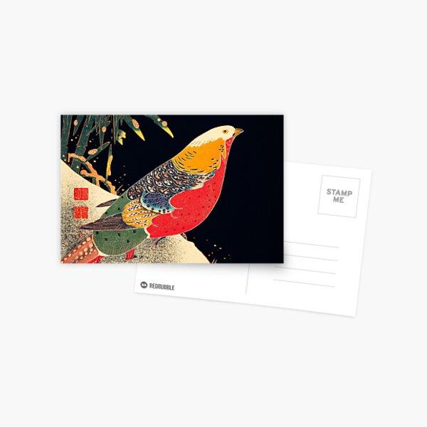 Golden Pheasant in the Snow - Ito Jakuchu Postcard